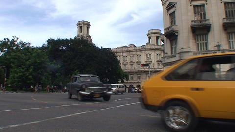 Traffic on Agramonte street Stock Video Footage