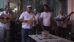 Salsa musicians 2 on terrrace part 8 of 9 Stock Video Footage