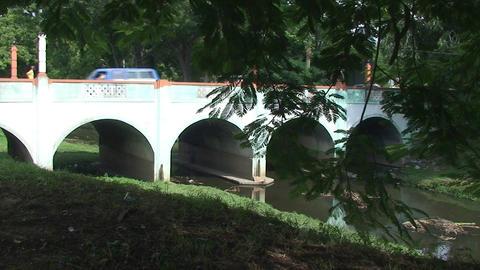 Bridge over the Rio Hatibonico Stock Video Footage