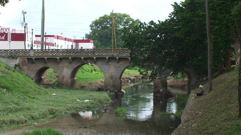 Bridge over the Rio Hatibonico Footage