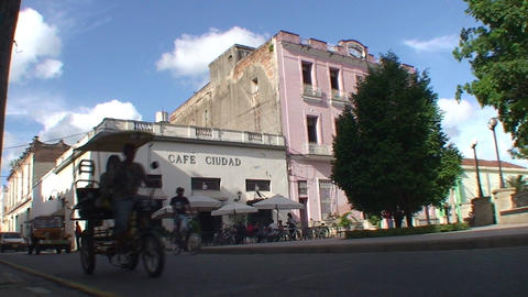 Café Ciudad terrace Stock Video Footage