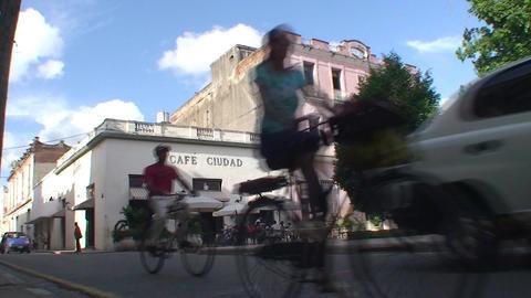 Café Ciudad terrace Stock Video Footage