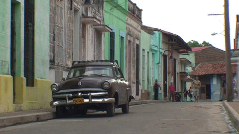 Colonial building, oldtimer Stock Video Footage