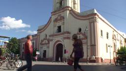 La Merced church tilt down Stock Video Footage