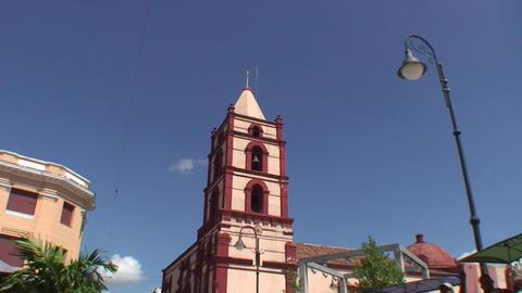 La Soledad church tilt down Stock Video Footage