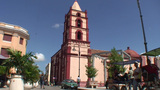 La Soledad church tilt down Footage