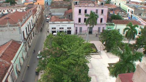 Overview Ignacio Agramonte park Stock Video Footage