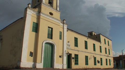 Plaza San Juan de Dios tiltdown Stock Video Footage