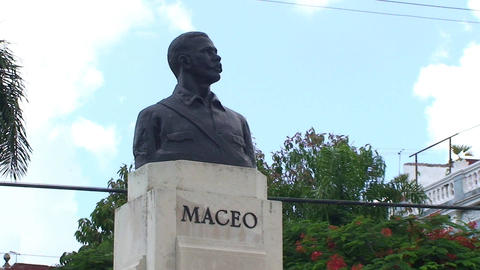 Statue of Maceo close up Footage
