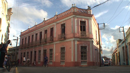 Streetview colonial building Stock Video Footage