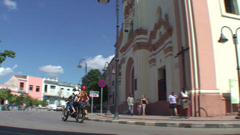 Streetview La Merced church Stock Video Footage
