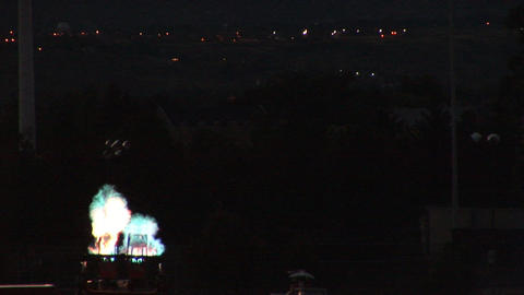 Burst of fire from hot air balloon burner Stock Video Footage