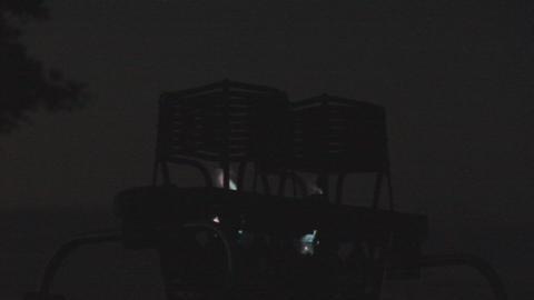 Hot air balloon burner close Stock Video Footage