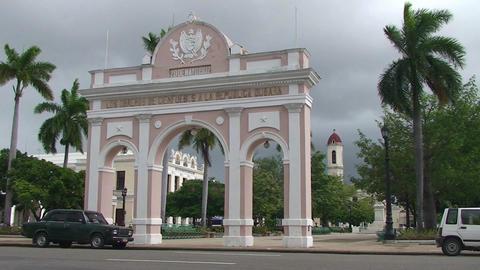 Cienfuegos Arch of Triumph Stock Video Footage