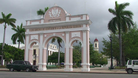 Cienfuegos Arch of Triumph Stock Video Footage