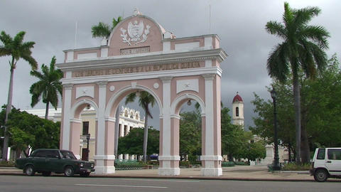 Cienfuegos Arch Of Triumph stock footage