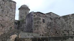 Cienfuegos Castillo de Jagua entrance Stock Video Footage