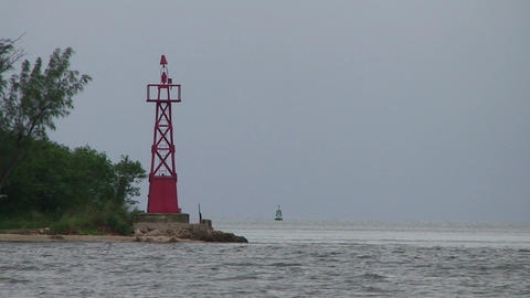 Cienfuegos Castillo de Jagua harber lighthouse Stock Video Footage