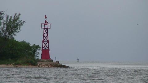 Cienfuegos Castillo de Jagua harber lighthouse Stock Video Footage