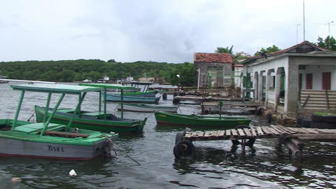 Cienfuegos Castillo de Jagua harber panshot Footage