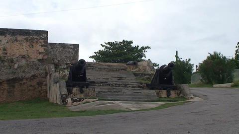 Cienfuegos Castillo de Jagua island cannons Footage