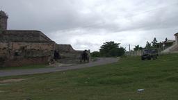 Cienfuegos Castillo de Jagua island cannons pansho Stock Video Footage
