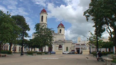 Cienfuegos Catedral de la Purísíma Conceptió Stock Video Footage