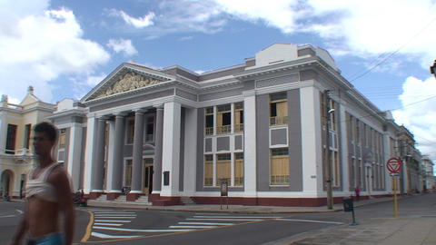 Cienfuegos Colegio San Lorenzo Stock Video Footage