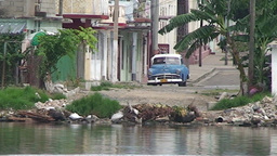 Cienfuegos Harber oldtimer near the waterfront Footage