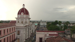 Cienfuegos Museo Provincial from above Footage
