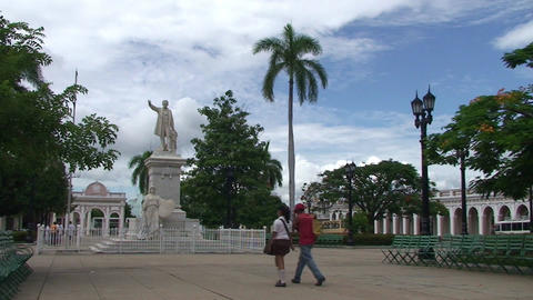 Cienfuegos Park José Martí Stock Video Footage
