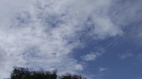 Cienfuegos Plane passing by Stock Video Footage