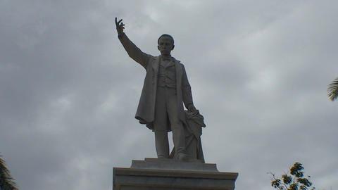 Cienfuegos Statue of José Martí close up Stock Video Footage
