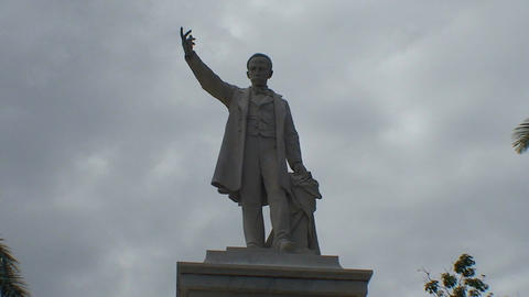Cienfuegos Statue of José Martí close up Stock Video Footage