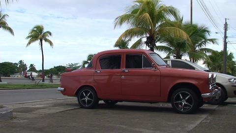 Cienfuegos Streetlife Oldtimer Stock Video Footage