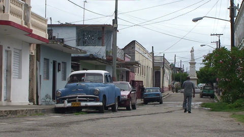 Cienfuegos Streetlife Oldtimer Stock Video Footage