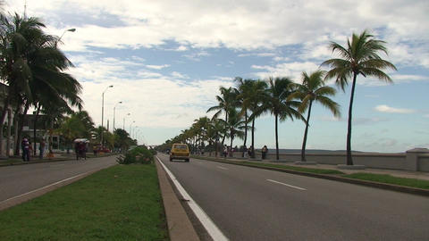 Traffic at the Malecón boulevard Footage