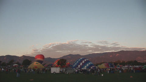 Hot air balloon festival Stock Video Footage
