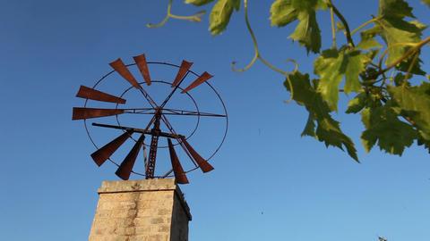 Rusty old windmill Footage