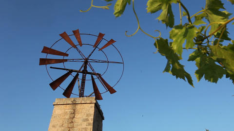 Rusty old windmill Stock Video Footage