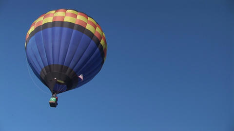 Balloon drifts away Stock Video Footage