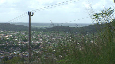 La Loma de la Cruz panshot overview town Stock Video Footage