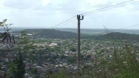 La Loma de la Cruz panshot overview town Footage
