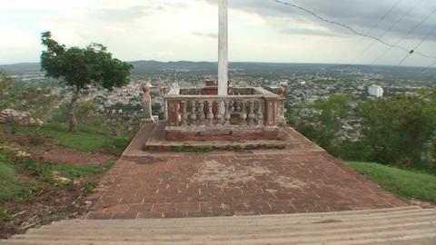 La Loma de la Cruz tilt up cruz Stock Video Footage