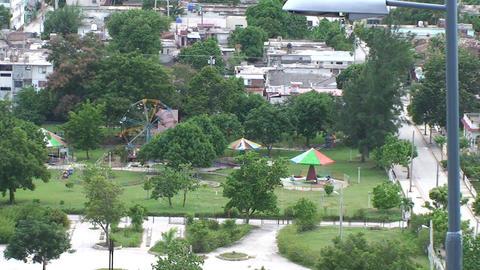 La Loma de la Cruz zoom out overview town Stock Video Footage