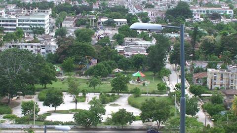 La Loma de la Cruz zoom out overview town Footage