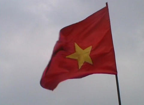 Vietnamese flag Stock Video Footage