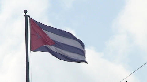 Cuban flag Stock Video Footage