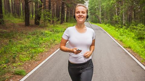 Jogging in park Footage