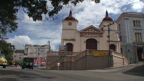 Church at Plaza de Dolores Stock Video Footage